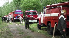 """Рятувальники провели навчання на """"Рекорді"""""""