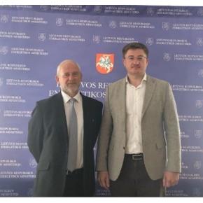 Голова Деержрезерву України із Віце-міністром  енергетики Литви