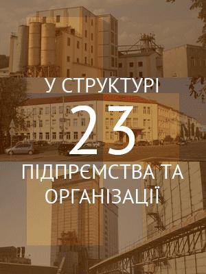 У структурі 23 підприємства