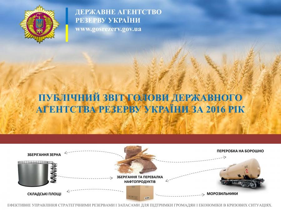Голова Державного агентства резерву України публічно відзвітував  за 2016 рік
