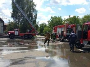 Оперативна інформація про пожежу на Комбінаті «Прогрес»