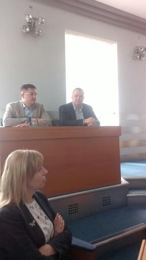Голова Держрезерву представив колективу свого нового заступника Дмитра Булатова