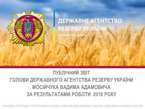 Публічний звіт Голови Державного агентства резерву України